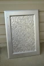 Faux tin tile cabinets bath vanities vanities and diy cabinet doors wallpaper cover glass cabinet doors google search planetlyrics Images