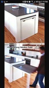Extendable Kitchen Island Kitchen Island Storage Kitchen Design Diy Kitchen Table