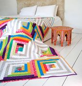 Make Your Own Log Cabin Quilt Pattern – Suzy Quilts