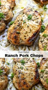 Baked Ranch Pork Chops are a quick, inexpensive and easy dinner recipe. The enti…