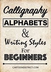 40 Calligraphy Alphabets and Writing Styles for Beginners