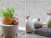 Tasses de Pâques bricolage et oeufs de Pâques en béton avec des accents de cuivre   – DIY: Mayodans Home, Garden & Crafts