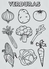Resultado De Imagen Para Imagenes De Alimentos De Origen Vegetal Para Colorear Verduras Dibujo Alimentos Para Colorear Verduras Para Ninos