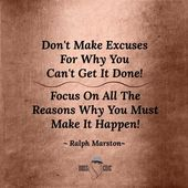 Do not Make Excuses For Why You Cannot Get It Executed! Focus On All The Causes Why You Should Make It Occur! ~ Be Boss Chíc