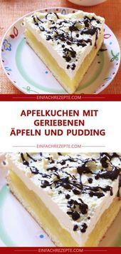 Apfelkuchen mit geriebenen Äpfeln und Pudding 😍 😍 😍