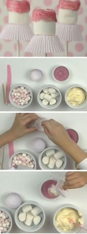 Ballerina Pops | DIY Baby Shower Ideas for a Girl | Easy Birthday Party Ideas fo… – Baby Shower Foods