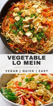 Légumes Lo Mein avec Tofu! Fait uniquement de tamari, d'huile de sésame, de sirop d'érable pur …   – Vegan