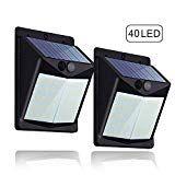7 Luz Solar Con Sensor De Movimientosúper Brillante Hovast 2 Paquetes 40 Led Foco Solar Exterior Impermeable Lámparas Sol Focos Led Iluminación De Exterior