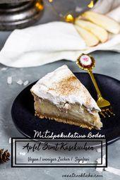 Veganer Apfel Zimt Käsekuchen mit Spekulatius • Ve Eat Cook Bake