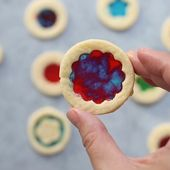 Stained Glass Cookies – candies melt in the midd…