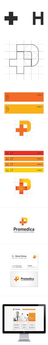 Promedica de Teodor Minea, a través de Behance   – Logos, Icons …
