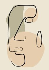 Minimal Face Line Art Print, Minimalist Printed Wall Art, Fine Line Abstract Artwork, Simple Drawing Decor, Scandinavian Bedroom Poster   – buy abstract art