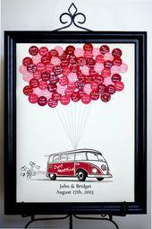 VW Bus Hochzeit Gästebuch Alternative