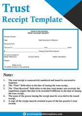 Trust Receipt Templates With Images Receipt Template
