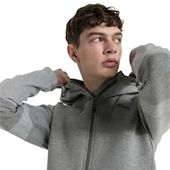 PUMA Evostripe Move Herren-Kapuzenjacke in mittelgrau meliert Größe 6X Large