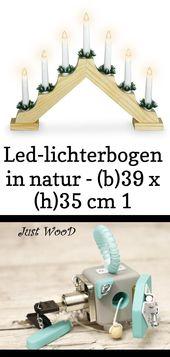 Led-lichterbogen in natur – (b)39 x (h)35 cm 1
