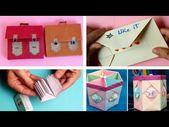 اعمال يدوية مدرسية للأطفال حاملة أقلام ودفتر ومحفظة وظرف رسالة Education Cards Playing Cards