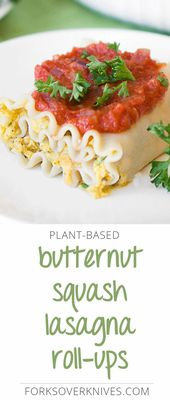 This vegan lasagna roll-up recipe is a great plant-based twist on the classic ve…