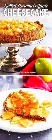 Gesalzener Karamell-Apfel-Käsekuchen   – Caramel Apples