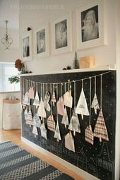 Tannenbäume Deko. Diese selbstgemachte Weihnachtsdekoration kann gemeinsam mit Kinder gebastelt werden und das Ergebnis...