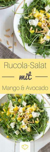 Salada de abacate e manga com foguete   – EAT_bowls & salads