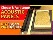 DIY Acoustic Panels – How To Make Your Own Cheap and Awesome Panels – YouTube