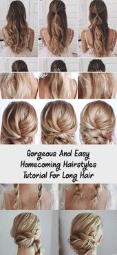 Gorgeous And Easy Homecoming Hairstyles Tutorial For Long Hair