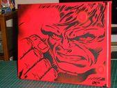 Hulk canvas art painting stencil art kids art comics green wall art superhero ma…   – tattoo