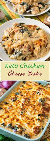 Keto Chicken Cheese Bake – Recettes de cuisine délicieuse et saine #Recipes #FoodDeli …