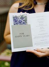 15 Fabulous + Unique Wedding Program Ideas!