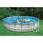Intex 26 Feet X 52 Inches Above Ground Ultra Frame Pool S Above Ground Swimming Pools Pool Swimming Pools
