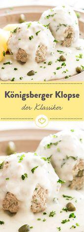 Königsberger Klopse mit Kapernsauce