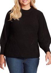 Jessica Simpson Plus Size Addison Rib Full Sleeve Crew Neck Sweater 3