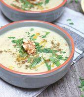 [Soup of the Week] Zucchini and walnut soup   – Menü für Freunde – #Freunde #f…