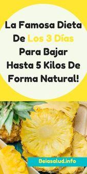 La Famosa Dieta De Los 3 Días Para Bajar Hasta 5 Kilos De Forma Natural!