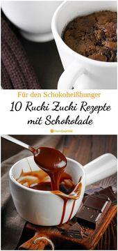 10 Rucki Zucki Rezepte für den Heißhunger auf Schokolade – #auf #den # für #He …