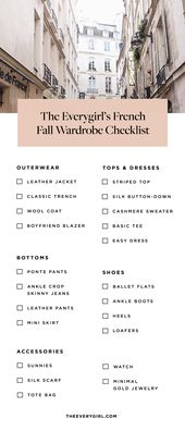 How to Create a French Fall Capsule Wardrobe