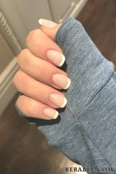 40 atemberaubende Maniküre-Ideen für kurze Nägel 2020 Short Gel Nail Arts classic Fr …   – Manicure ideas