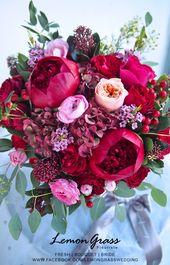 Mutiger und schöner Schatten des rosa Frühlingsbrautblumenstraußes  – deko