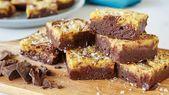 Unsere pummeligen Brownies warteten ihr ganzes Leben lang auf diesen gesalzenen Tahini-Frischkäse – auch Ihren?