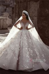 Luxuriöse Langarm Brautkleider