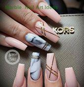 25 Marble Nail Design with Water & Nail Polish #na…