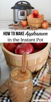 How to Make Applesauce in the Instant Pot | This is such an easy recipe and the …