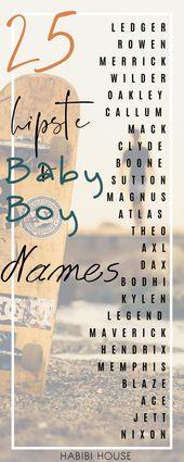Jungennamen: 25 ungewöhnliche Jungennamen, die es 2019 töten!   – •BABY BOY NAMES•