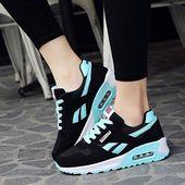 Zapatos de deporte de aire para mujer Zapatillas de deporte para mujer con cordones para correr al aire libre   – Shoes