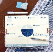 Handmade Journals 40 Ocean themed bullet journal ideas you want to sea..oops see! - Almost a mess
