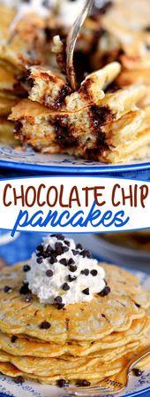 Chocolate Chip Pancakes sind hier ein Grundnahrungsmittel für ein Wochenende, und wenn ich Ihnen einmal zeige, wie …