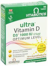 Ultra Vitabiotics Vitamin D 96 Tablets Health And Wellbeing Vitamins Vitamin D