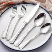 20-piece Silver Cutlery Set 304 Stainless Steel Di…