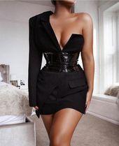 Satin Blazer Kleid